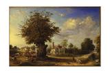 The Yeldham Oak at Great Yeldham  Essex  1833