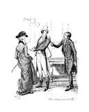 The Obsequious Civility'  Illustration from 'Pride and Prejudice' by Jane Austen  Edition…