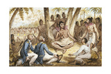 Illustration from 'The Voyages of Captain Cook'