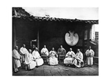 The Abbot and Monks of Kushan Monastery  C1867-72