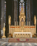 High Altar in Neo-Gothic Style  Surrounded by 4 Angels Carrying the Instruments of the Passion of…