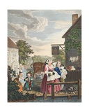 Times of Day  Evening  Illustration from 'Hogarth Restored: the Whole Works of the Celebrated…