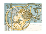 Angel Offering a Wicker Cage with an Open Door Allowing the Song Birds to Escape  Contents Page…