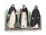 From Left to Right  Trinitarian Friar  Dominican and Augustinian
