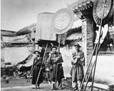 Bannermen at a Manchu Funeral  Peking  C1872