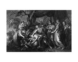 Achilles Laments the Death of Patroclus  Engraved by Domenico Cunego  1764