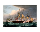 Capture of La Loire  October 18th 1798  from 'The Naval Achievements of Great Britain' by James…