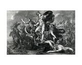 Achilles Vents His Rage on Hector  Engraved by Domenico Cunego  1764
