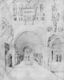 Death of the Virgin in the Rich Architecture of a Venetian Palace  from the Jacopo Bellini's…