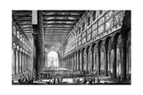 View of the Interior of Basilica of San Paolo Fuori Le Mura  from the 'Views of Rome' Series …