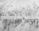 Funeral of the Virgin  from the Jacopo Bellini's Album of Drawings