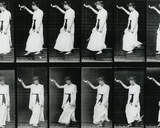 Woman Descending a Stairway  1887  Illustration from 'The Human Figure in Motion' by Eadweard…