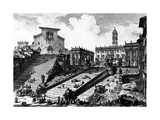 View of the Capitoline Hill  from the 'Views of Rome' Series  C1760