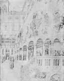 The Flagellation  from the Jacopo Bellini's Album of Drawings