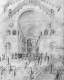 The Presentation of the Virgin in the Temple  from the Jacopo Bellini's Album of Drawings