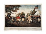 Surrender of General Burgoyne at Saratoga NY Oct 17th 1777 New York  Print Made by Nathaniel…