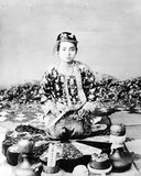 Young Burmese Woman with a Cigar  Mandalay  C1875