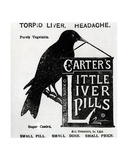 Advertisement for 'Carter's Little Liver Pills'  C1880-1900