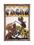 Walter Von Klingen (1240-1286)  Defeats Another Knight in a Tournament Codex Manesse (Ca1300)
