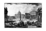 View of St Peter's Basilica and Piazza  from the 'Views of Rome' Series  C1760
