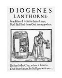 The Philosopher Diogenes Searches for an Honest Man in the City of London with His Lantern  1607