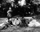 Members of the Nabis Group Sitting in the Garden of the Relais  the Natansons' Home in Villeneuve…