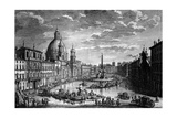 View of the Piazza Navona During the Ferragosto Holiday  1752