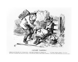 Caught Napping!  Illustration from 'Punch'  September 5 1896