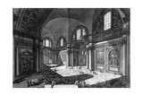 View of the Interior of Santa Maria Degli Angeli E Dei Martiri  from the 'Views of Rome' Series …
