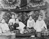Burmese Lady and Her Attendants  C1885