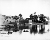 Luxor Seen from a Nile Boat  C1860-80