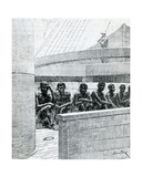 Blacks Stay on the Lower Deck  Illustration from 'The Zanzibar Slave Ship: Voyages  Adventures…