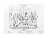 Lord Beaconsfield's Cabinet 1874 - Her Majesty's Ministers in Council  Print Made by Henry Lemon …
