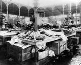 The Fish Market at Les Halles  Paris  Late 19th Century