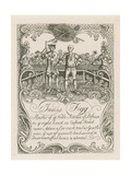 James Figg's Trade Card Designed by Hogarth
