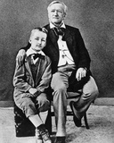 Richard Wagner with His Son  Siegfried  1880