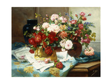 Still Life with Flowers and Sheet Music  C1877
