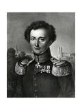 Carl Von Clausewitz  Print Made by F Michelis  1830