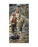Children with Turkeys