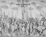 Crucifixion  from the Jacopo Bellini's Album of Drawings