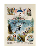 Poster Advertising 'Le Pays D'Or' ('The Land of Gold')  C1880