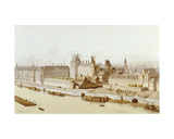 The Louvre and the Hôtel Du Petit-Bourbon in 1622 During the Reign of Louis Xiii  1885