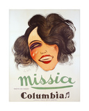 Columbia Records Poster Advertising the French Chanteuse  Missia  C1935