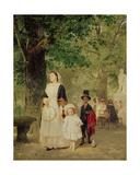 Promenade in the Tuileries Gardens  1855