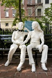 Gay Liberation Monument in Christopher Park  Greenwich Village  New York