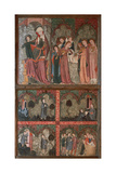 Altarpiece of San Millan De La Cogolla Detail Depicting Scenes from the Life of San Millan and…