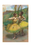 Dancers with Yellow Skirts (Two Dancers in Yellow)  C1896
