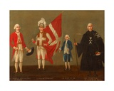 Dignitaries of the Order of St John with Page of the Victory  C1789-96