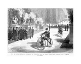 The Prince Imperial  Watched by His Parents  the Emperor and Empress  Shows His Skill in Cycling…