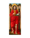 St John the Baptist  Exterior Panel of the Weston Triptych  C1480